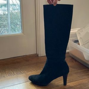 Aquatalia Black Suede High Boots